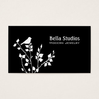 Modern Black and White Bird Professional Business Card