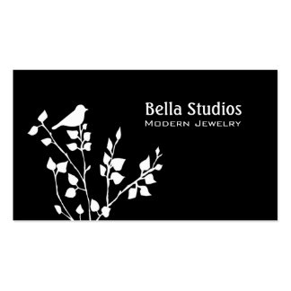 Modern Black and White Bird Professional Pack Of Standard Business Cards