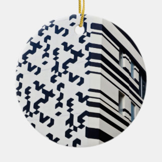 Modern black and white building in Hong Kong 2 Christmas Ornament