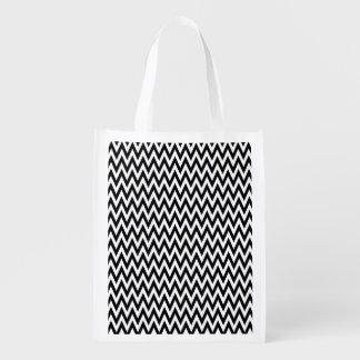 Modern Black and White Chevron Stripes