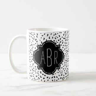 Dalmatian Spots Monogrammed Mug