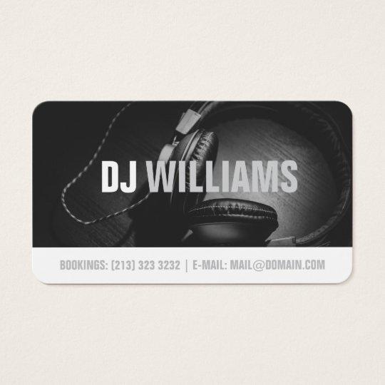 Modern Black and White DJ DeeJay Musician Business