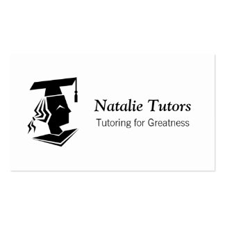 Modern Black and White Graduate Personal Tutoring Pack Of Standard Business Cards