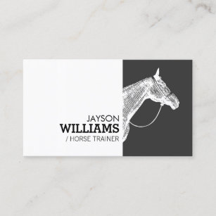 Horse business cards business card printing zazzle uk modern black and white horse motif business card colourmoves