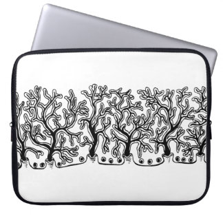 Modern Black and White Joshua Tree Neoprene Laptop Sleeve
