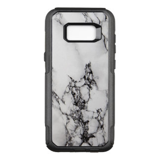 Modern Black And White Marble OtterBox Commuter Samsung Galaxy S8+ Case
