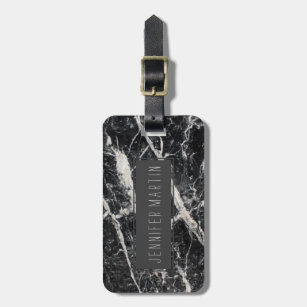 c364f0d285ce Modern Black and White Marble Pattern Luggage Tag