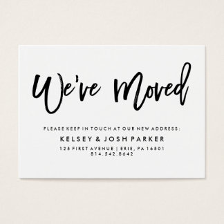 Modern Black and White New Address Insert