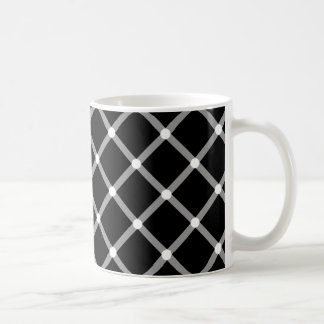 Modern black and white optical pattern mug