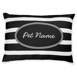 Modern black and white Personalized pet bed