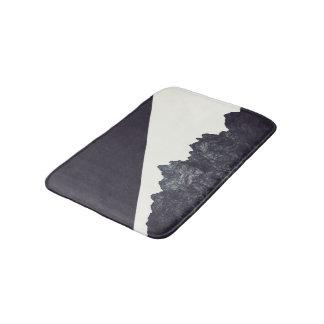 Modern Black and White Rocky Mountain Art Bath Mats