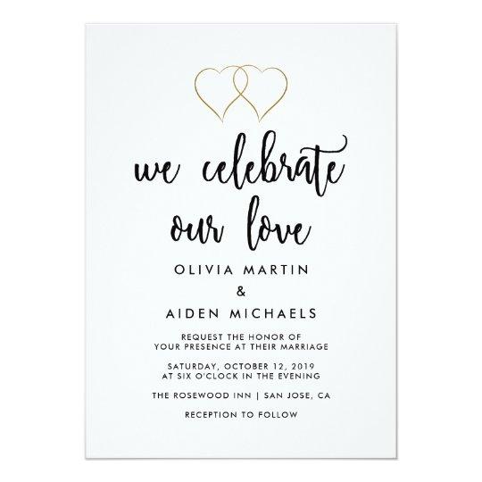 Modern Black And White Wedding Invitation Zazzle Co Uk