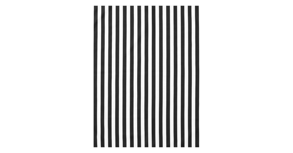 Modern Black And White Wide Stripe Tablecloth Zazzle