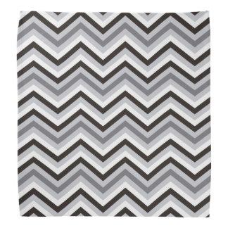 Modern black and white Zigzag Pattern Bandanna