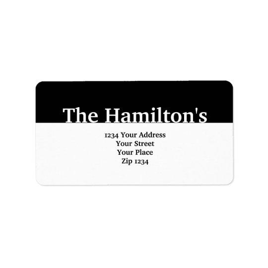 Modern Black Banner Address Label