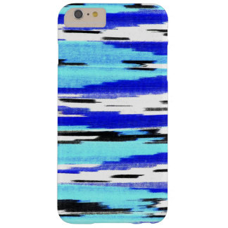 Modern black blue white ikat chevron pattern barely there iPhone 6 plus case