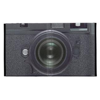 Modern black camera iPad folio cover