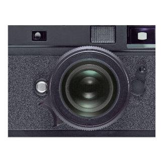 Modern black camera postcard