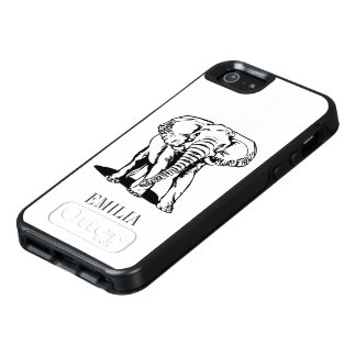 Modern Black Elephant OtterBox iPhone 5/5s/SE Case