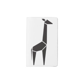 Modern black giraffe symbol pocket moleskine notebook