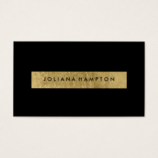Modern Black Gold Luxe Business Card, foil Business Card
