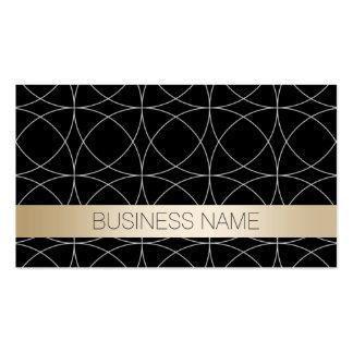 Modern Black & Gold Yoga instructor Pack Of Standard Business Cards