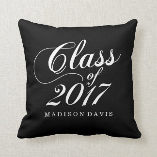 Modern Black | Graduation Throw Pillow