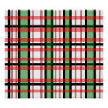 Modern black green red and white plaid pattern