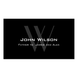 Modern Black Grey Daddy Calling Card Pack Of Standard Business Cards