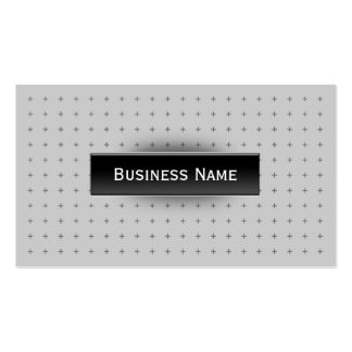 Modern Black Label Cross Grid Business Card