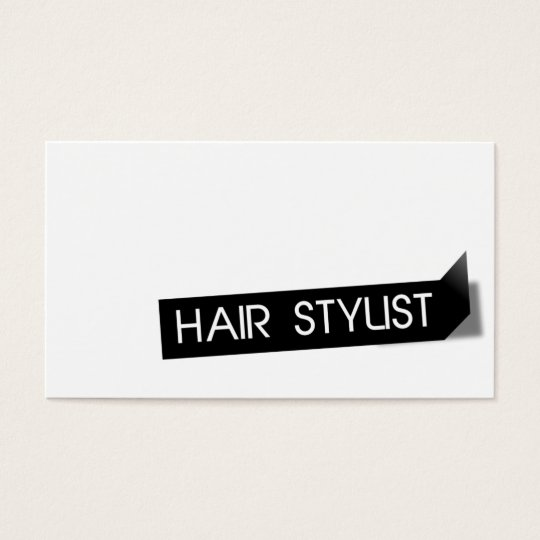 Modern Black Label Hair Stylist Business Card