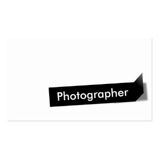 Modern Black Label Photographer Business Card