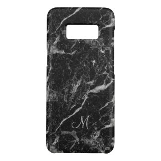 Modern Black Marble Pattern with Monogram Case-Mate Samsung Galaxy S8 Case