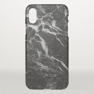 Modern Black Marble Print iPhone X Case