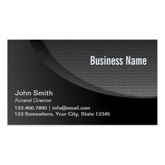 Modern Black Metal Mesh Funeral Pack Of Standard Business Cards