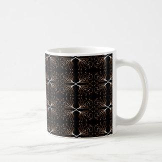 Modern Black & Sepia Pattern Coffee Mug