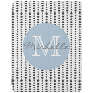 Modern Black & White Abstract Pattern iPad Cover