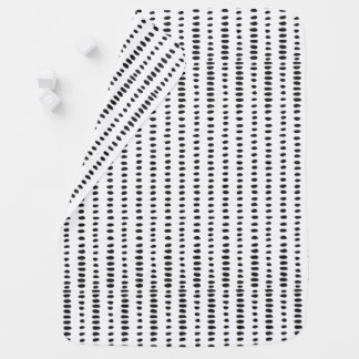 Modern Black & White Abstract Print Baby Blanket