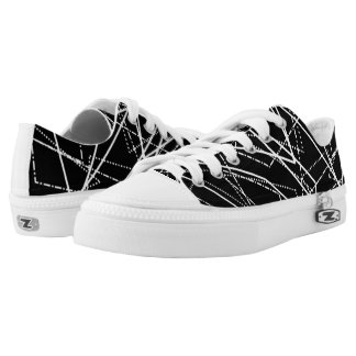 Modern Black & White Abstract Shoes Printed Shoes