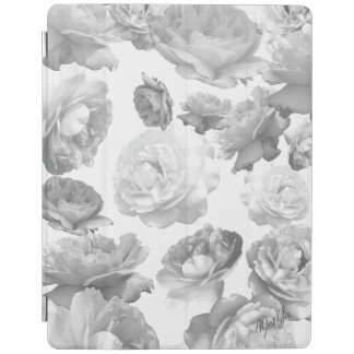 Modern Black + White Floral iPad 2/3/4 Smart Cover iPad Cover