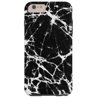 Modern Black & White Marble Stone Print Tough iPhone 6 Plus Case