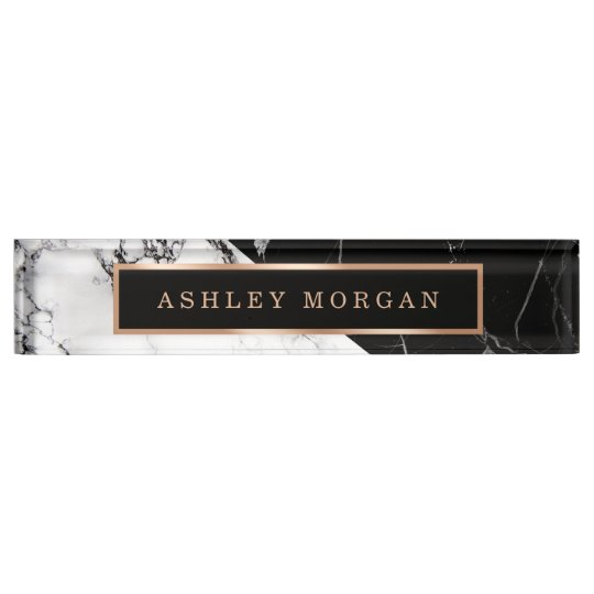 Modern Black White Marble Stone Texture Look Name