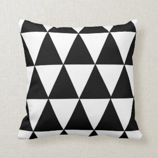 Modern Black & White Pattern Pillow