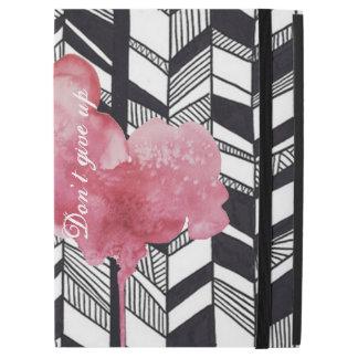 MODERN black&white pattern Pink splash iPad Case