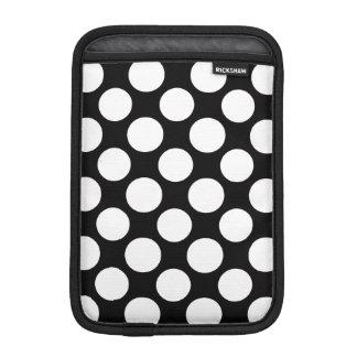 Modern Black White Polka Dots Pattern iPad Mini Sleeve