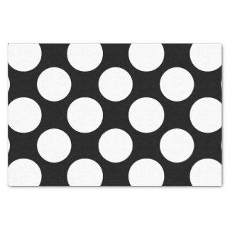 Modern Black White Polka Dots Pattern Tissue Paper