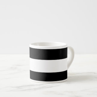 Modern Black White Stripes Pattern Espresso Cup