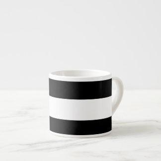 Modern Black White Stripes Pattern Espresso Mug