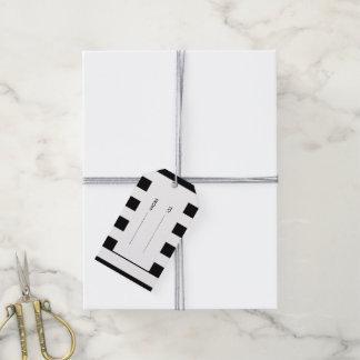 Modern Black White Stripes Pattern Gift Tags
