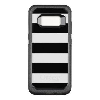 Modern Black White Stripes Pattern OtterBox Commuter Samsung Galaxy S8 Case